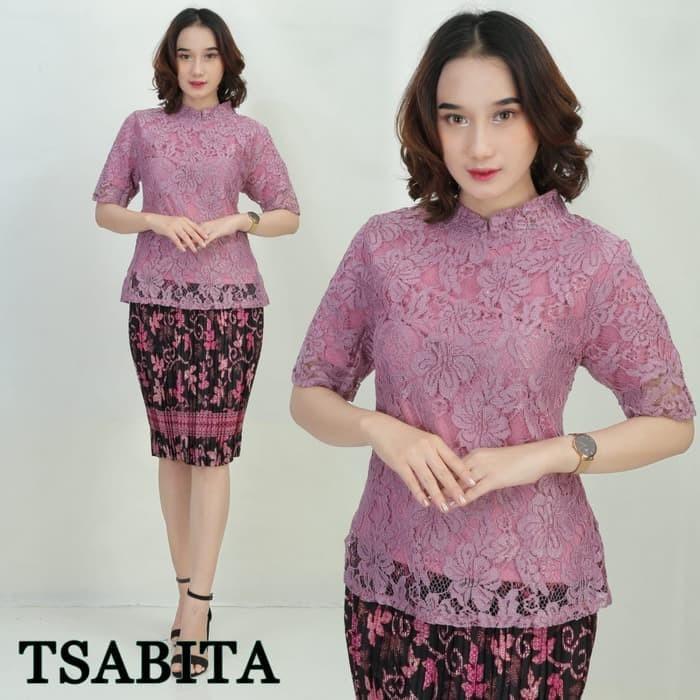 Jual Setelan Kebaya Modern Lengan Pendek Purple Jakarta Pusat Butik Kebaya Fashion Tokopedia
