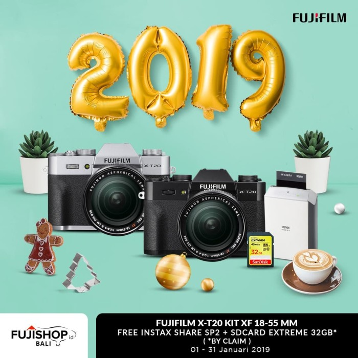 Jual Fujifilm X T20 18 55mm Instax Share Sp 2 Sdhc Extreme 32gb Silver Harga Rp