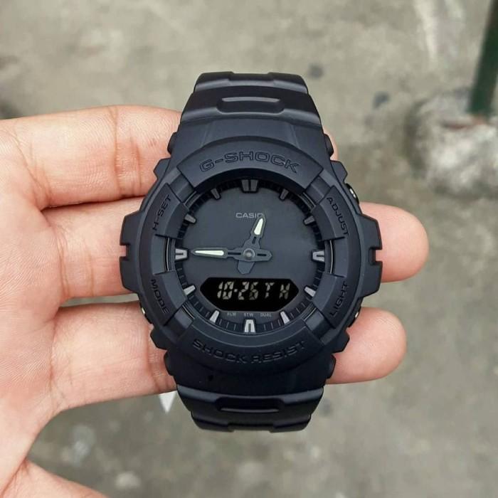 Jam Tangan Pria Casio G-Shock G-100BB Full Black ORI BM G 100