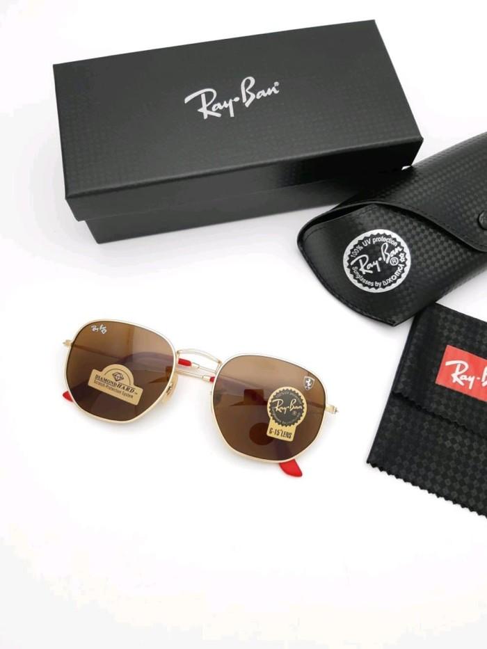 Jual kacamata rayban hexagonal scuderia ferrari edition gold brown ... 6d71b15d1f