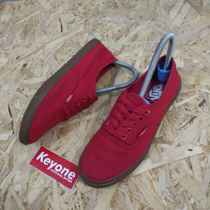 be8b9c5b99b1d1 Jual Vans Authentic Plimsolls Red Crimson Gum Sole shoes original ...