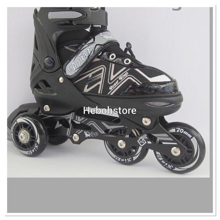 harga Sepatu roda bajaj roda pu /inline skate pu wheels anak dan dewasa Tokopedia.com