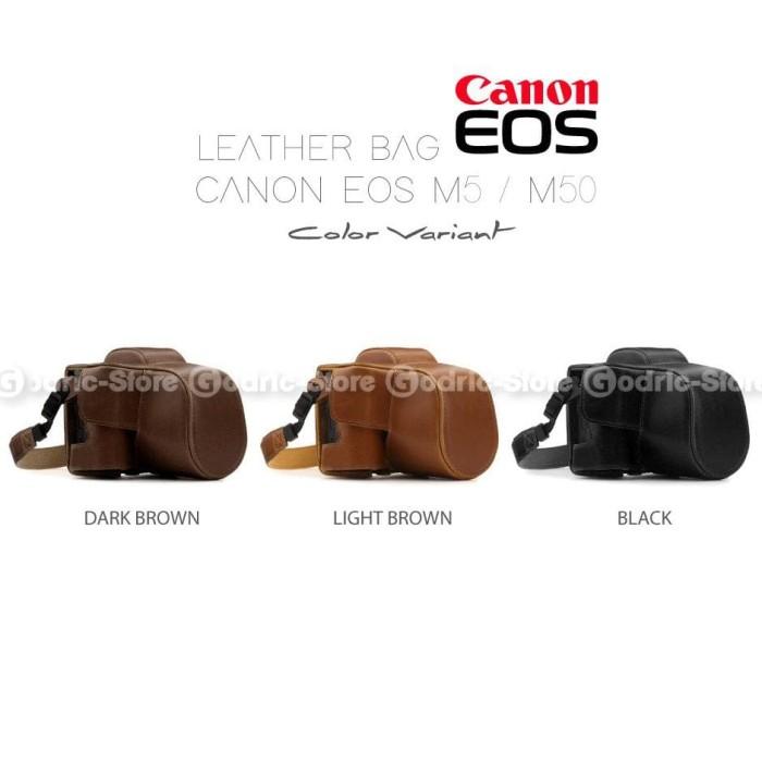 MURAH CANON EOS M50 M5 LEATHER BAG CASE TAS KULIT KAMERA MIRRORLESS 7e19f89520