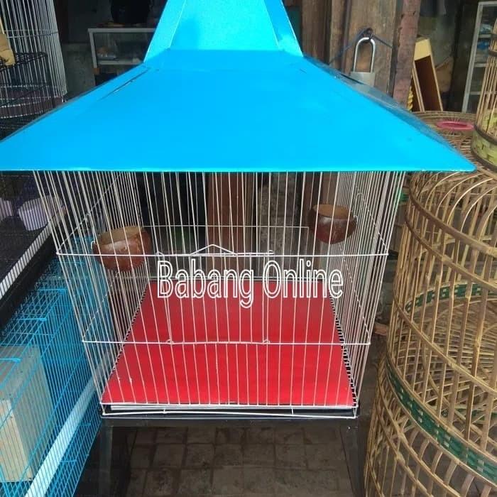 harga kandang burung beo besi atap kerucut ukuran besar Tokopedia.com