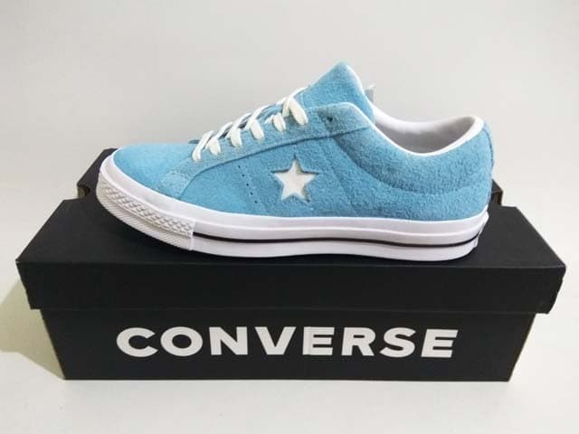 41363134efa1 Jual Sepatu Converse One Star Ox 161575C Shoreline Blue White ...