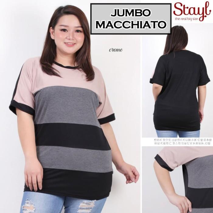 Foto Produk Jumbo Macchiato Blouse Bigsize Baju Atasan Wanita dari Paphika