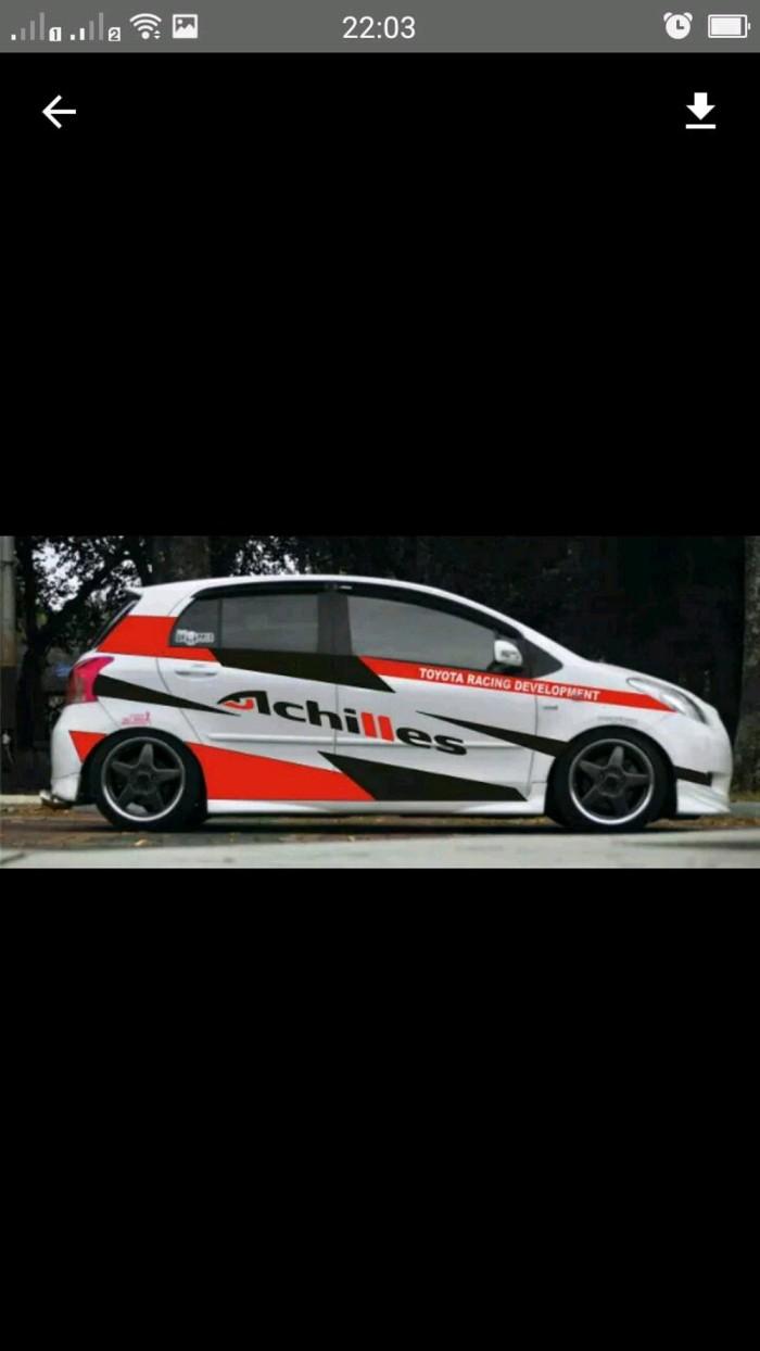 Cutting sticker striping mobil agya ayla racing sport simple kerenn