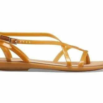 daf541424af5af Jual Sandal Crocs Women Isabella Gladiator Dark Gold Original - DKI ...
