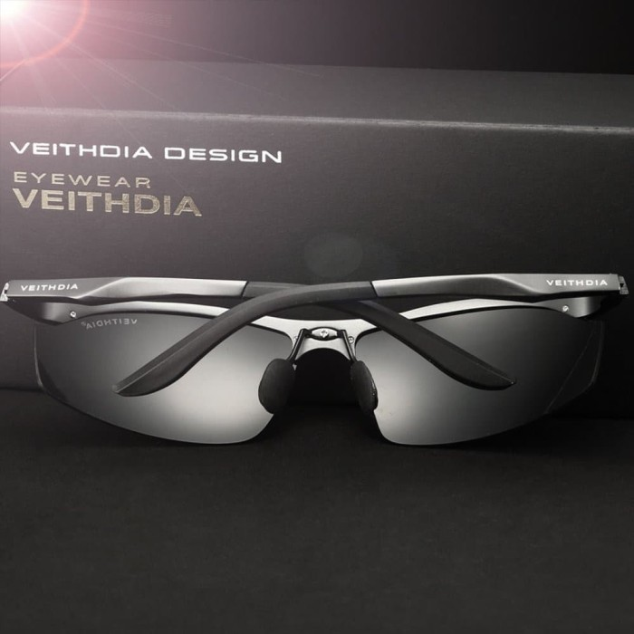 Jual JUAL Veithdia Kacamata Pria UV Polarized 6529 Black - ZIDANE ... 32efe651b6