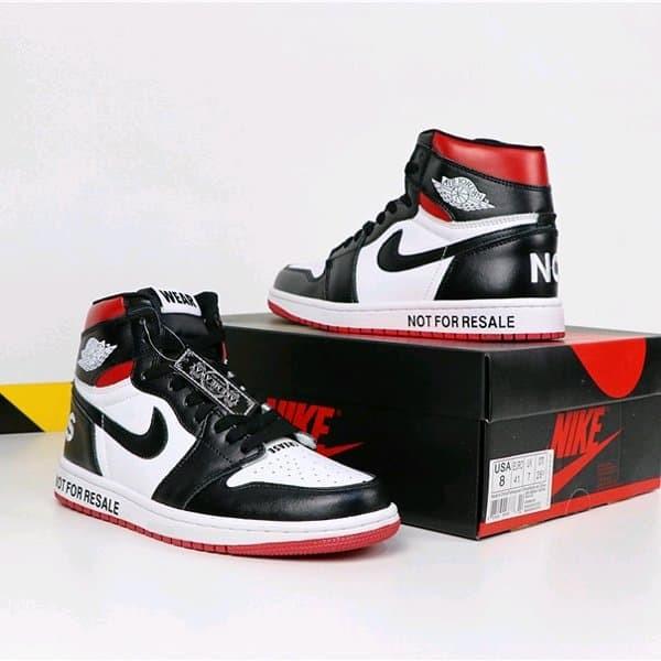 1b01e3b3ceb Jual Sepatu Nike Air Jordan 1 Not For Resale Black Varsity Red - DKI ...