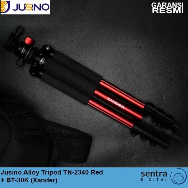 harga Jusino alloy tripod tn-2340 red + bt-30k (xander) Tokopedia.com