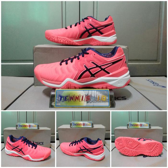 Info Harga Sepatu Tenis Wanita Asics Gel - Resolution 7 - Pink Di ... e5b3d03b70