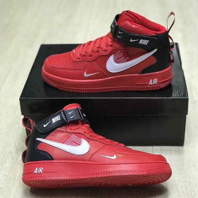 new style c55df e8f5a Sepatu Nike Air Force 1 Mid 07 LV8 Utility Red