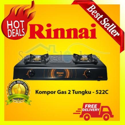 Rinnai Rl-522C - Kompor Gas - 2 Tungku Teflon Harga Pabrik