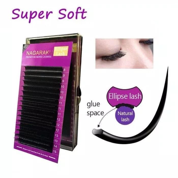90e2d83fdf7 Nagaraku Premium Mink Ellipse Flat Eyelash / Lashes Extension Mix Size