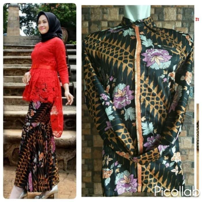 Jual Couple Brokat Kebaya Aurora Merah Penguin Rok Duyung Lengan Panjang Dki Jakarta Kebayabutik21 Tokopedia