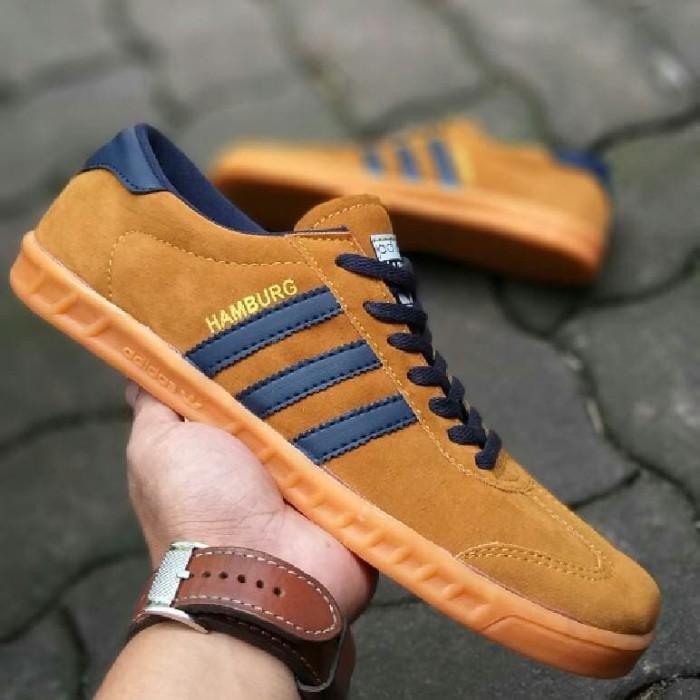 ... harga Obral sepatu pria snaekers murah adidas hamburg for man grade  original Tokopedia.com a26be3548f