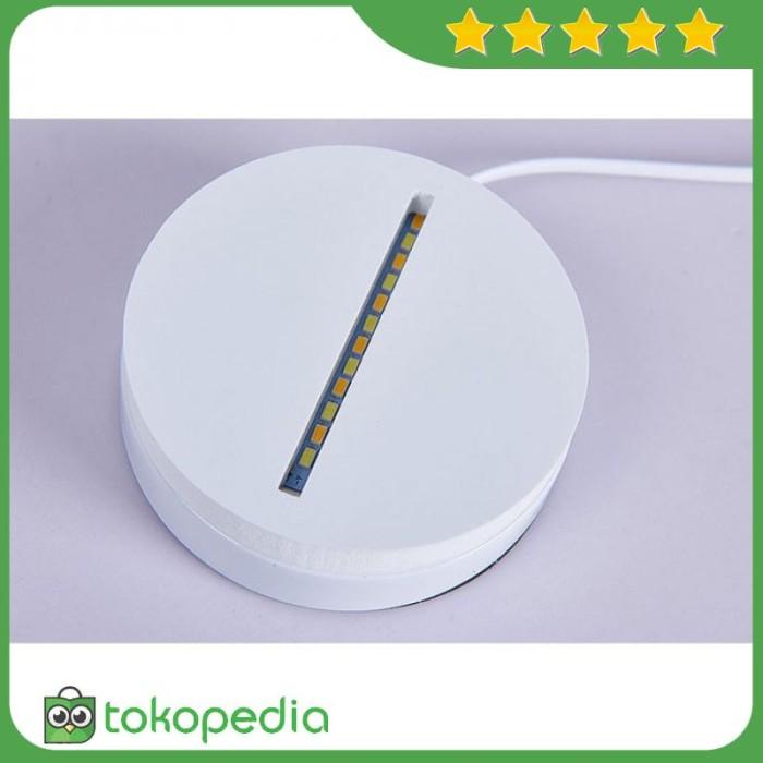 Lampu 3D LED Transparan Design Tengkorak - Putih -R583