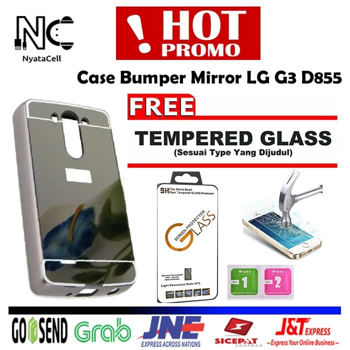 the latest 5aac5 76a60 Jual Bumper Mirror Case LG G3 D855/Hardcase/Slide/Hard/Casing/Cover/Metal -  FREE TG - Kota Bekasi - NYATACELL   Tokopedia