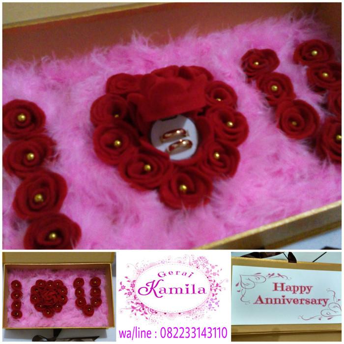 Jual Tempat Cincin Untuk Kado Hadiah Aniversary Ultah Ulangtahun Valentine Kota Bandar Lampung Buket Bunga Boneka Tokopedia