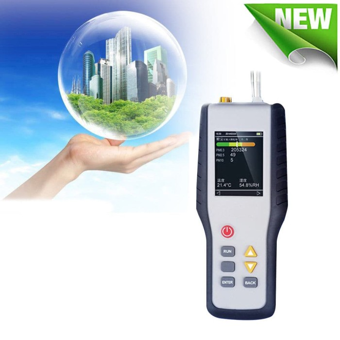 PM2.5 Detector HT-9600 Air Quality Detector Particle Monitor Dust Particle Counter Temperature and Humidity Measurement Air Analyzer