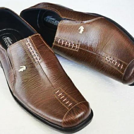 Jual Sepatu kulit Pantofel pria branded crocodile A8 Cokelat ... 9071c75b17