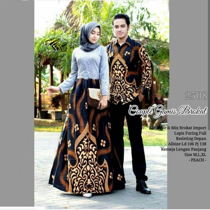 Jual Gamis brokat batik kombinasi brokat terbaru batik sarimbit ... 4b52535136