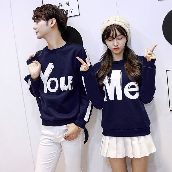 SWEATER MODEL TERBARU SWEATER COUPLE LP YOU ME MAROON-ABU-HITAM-NEVI