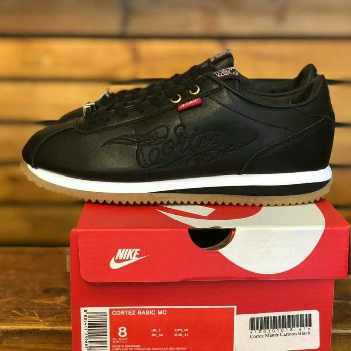 huge selection of 0cc3c db64f Jual Nike Cortez Mister Cartoon Black Gum Premium Mirror High Quality -  Kota Bandung - mainshoesoffcl | Tokopedia