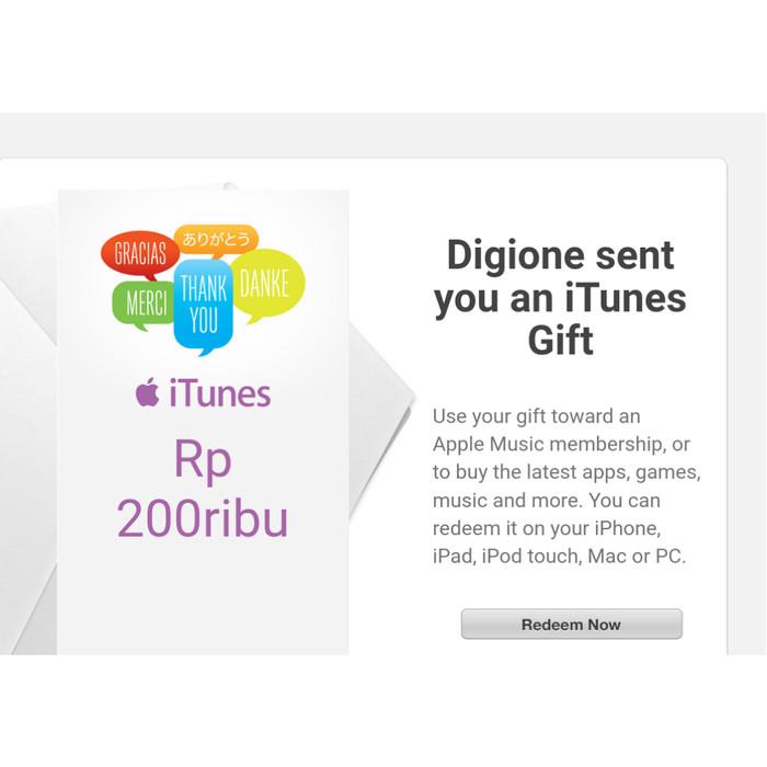 Apple Itunes Gift Card Rp150 K - tempat jual Produk Popular Di Indonesia 7caded1aa4