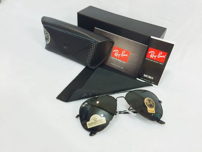 Jual Kacamata Rayban Aviator Diamond Hard Sunglasses Pria Wanita ... f0183e3b23