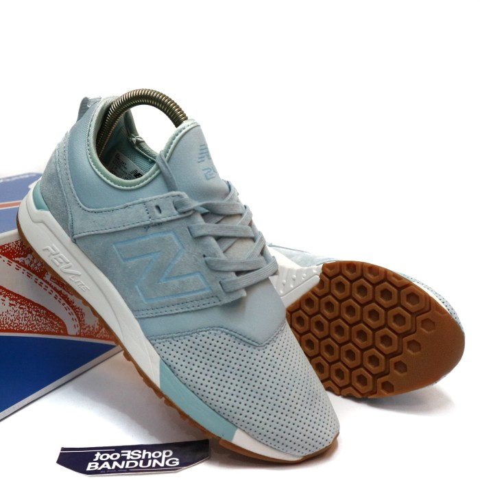 Jual Sepatu Sneakers Casual New Balance 247 Revlite Light Blue Gum ... 6e9d34fb9a