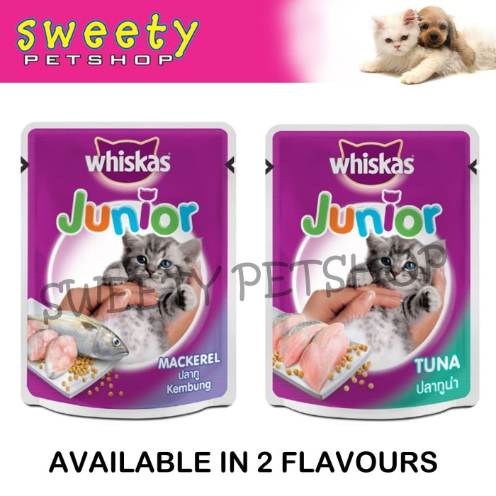 Jual Whiskas Pouch Junior Makanan Anak Kucing Basah Kitten Wet