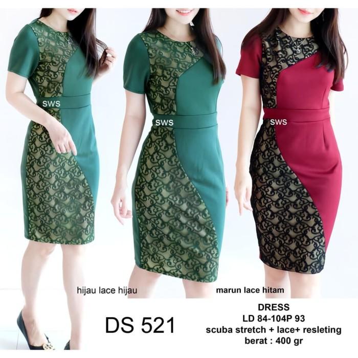 Dress Brukat Mini Baju Brokat Murah Dress Wanita Baju Pesta Pakaian ... 42057af66d
