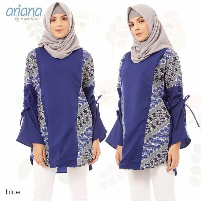 Jual Baju Menyusui Batik Ariana Biru Baju Muslim Blouse Atasan Ibu Hamil Kab Nganjuk Fidatrendmart Tokopedia