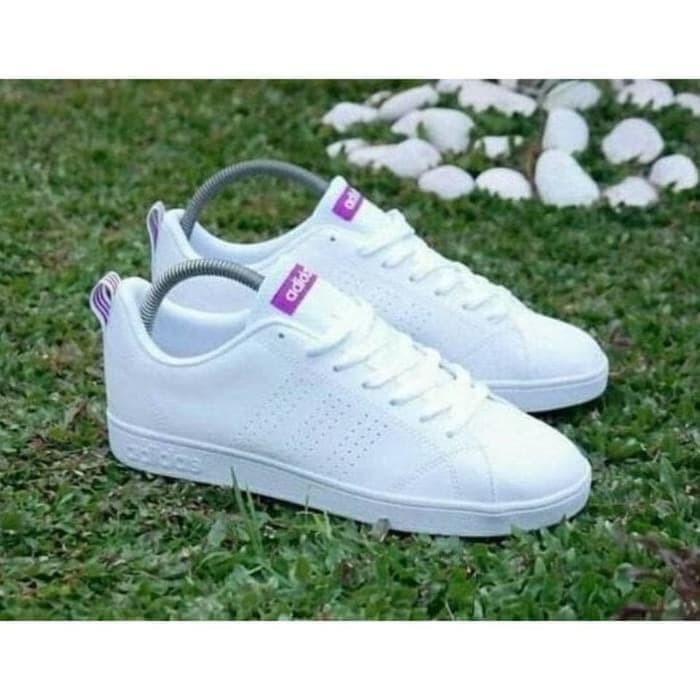 7fba61fb939 Jual Adidas Neo Advantage white stripe purple ORIGINAL - Tupai Sport ...