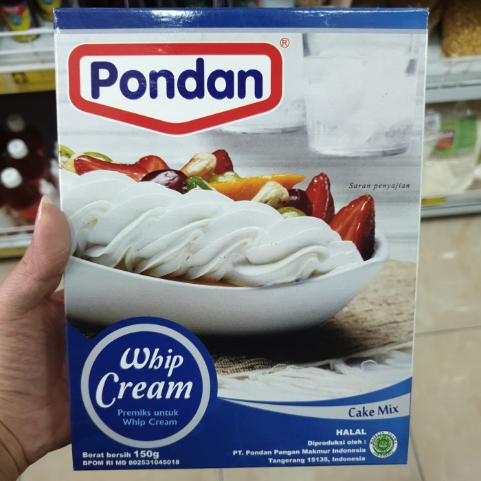 Pondan Whipped Cream