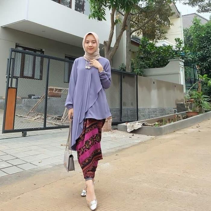 Jual Baju Muslim Modern Sena Top Blouse Muslim Atasan Kondangan Wanita Kab Bandung Busana Muslim Modern2 Tokopedia
