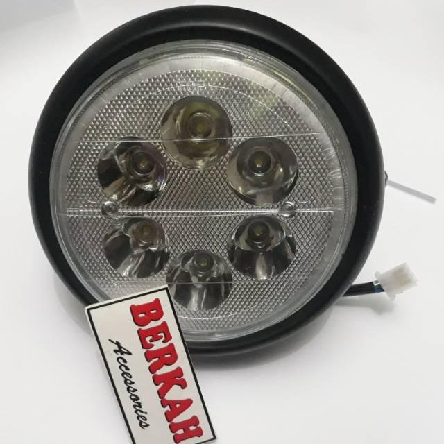 harga Vixion reflektor lampu depan vixion dengan lampu led Tokopedia.com