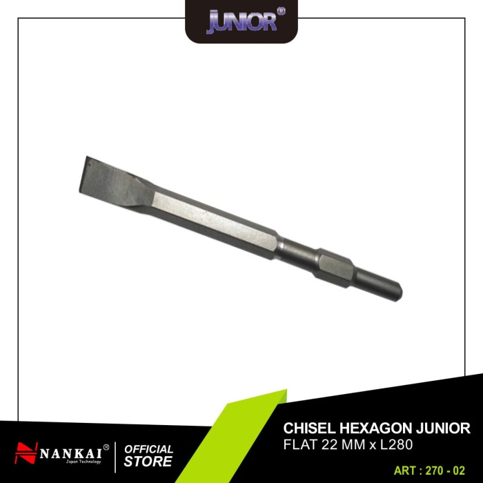 harga Chisel hexagon pipih 22mm x l280 junior Tokopedia.com