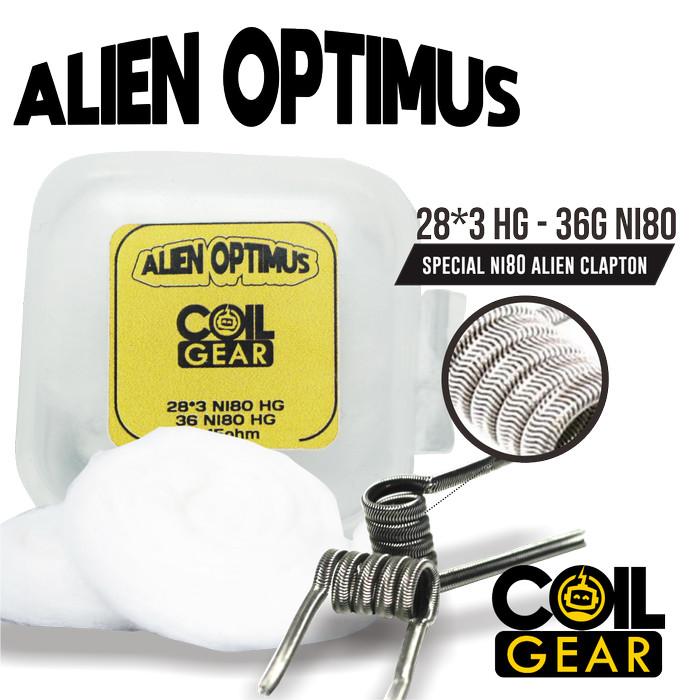 Foto Produk Coil Gear Alien Optimus Ni80 1 Pasang 28Gx3+36G Kawat Vape Vapor Oten dari VapeOi