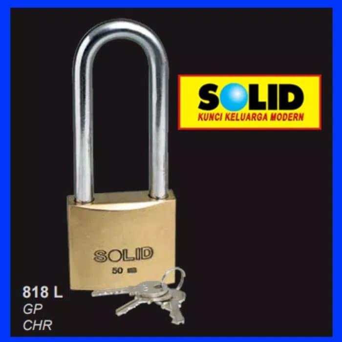 Foto Produk Gembok solid 818 L 40mm 40 mm kunci pagar leher panjang dari TB-ACC