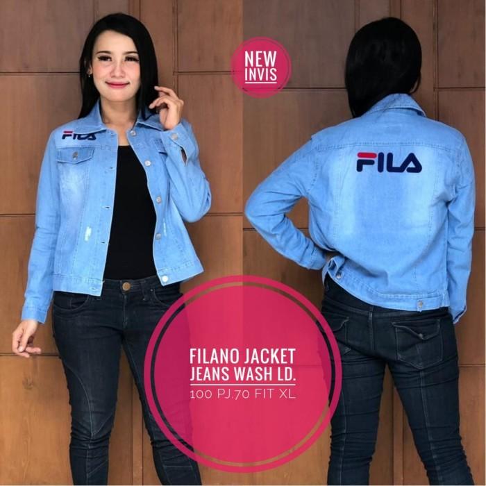 Jual jaket jeans fila wanita tebal bagus murah - YUCWHOLESALE ... 255794b086