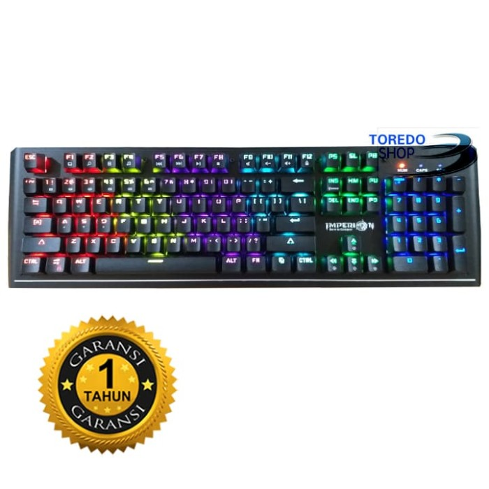 c7b872d5ad9 Imperion Keyboard Trooper 10, 104 Keys Mechanical OTUM Switch, RGB, Or -  Hitam