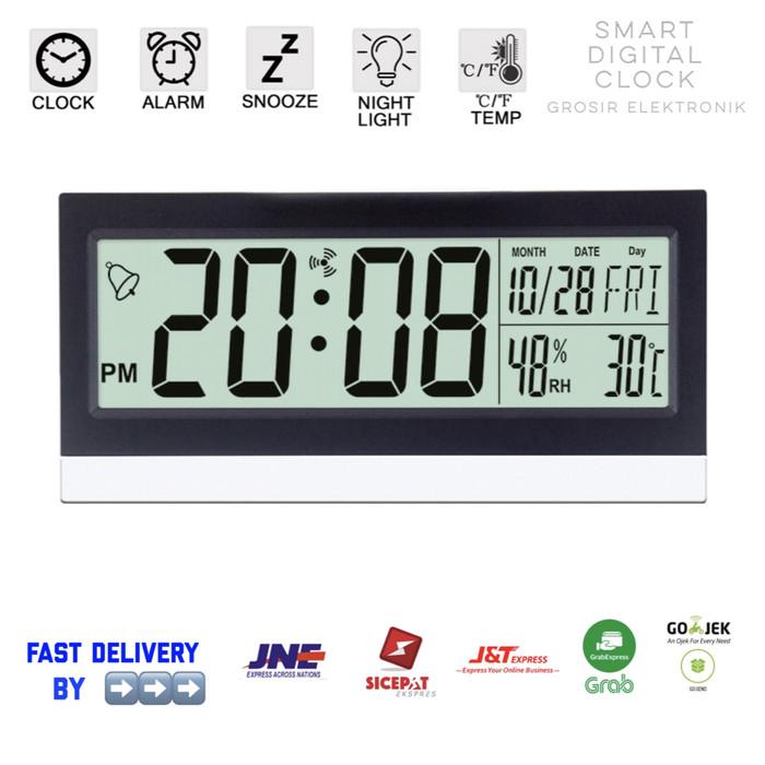 Jam Weker / Digital Desktop Smart Clock / Jam Meja Alarm KD-1852 - Hitam