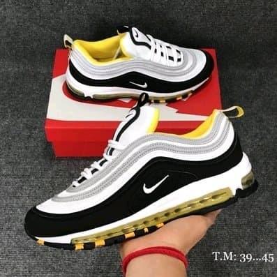 1e13a4c5af Jual Sepatu Nike Air Max 97 White Black Yellow - MAFIA SNEAKERS ...