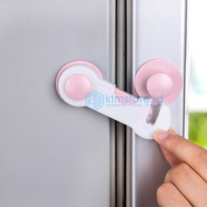 Foto Produk Pengaman laci lemari pintu perabotan dari bayi Lock Band murah BB-01 - Merah Muda dari KTM-Store