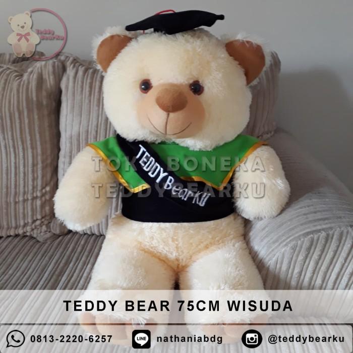 Jual Boneka Teddy Bear Cream XL 75CM Edisi Wisuda - TeddyBearKu ... b7cf31dec9