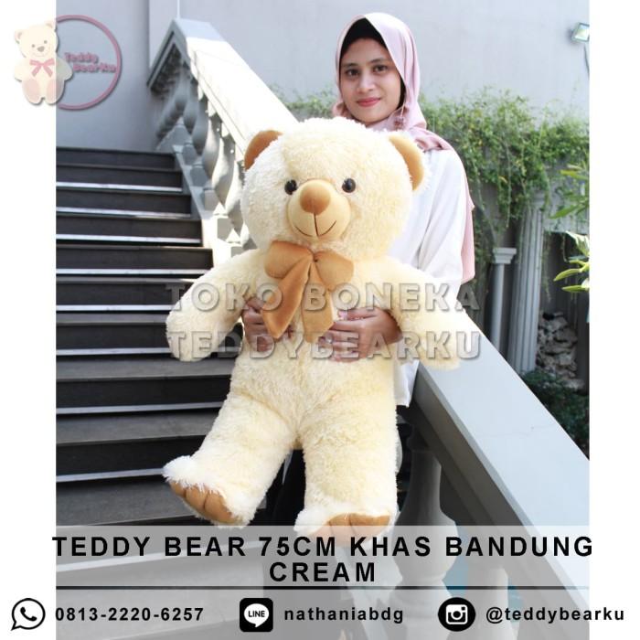 harga Boneka teddy bear cream xl 75cm khas bandung Tokopedia.com