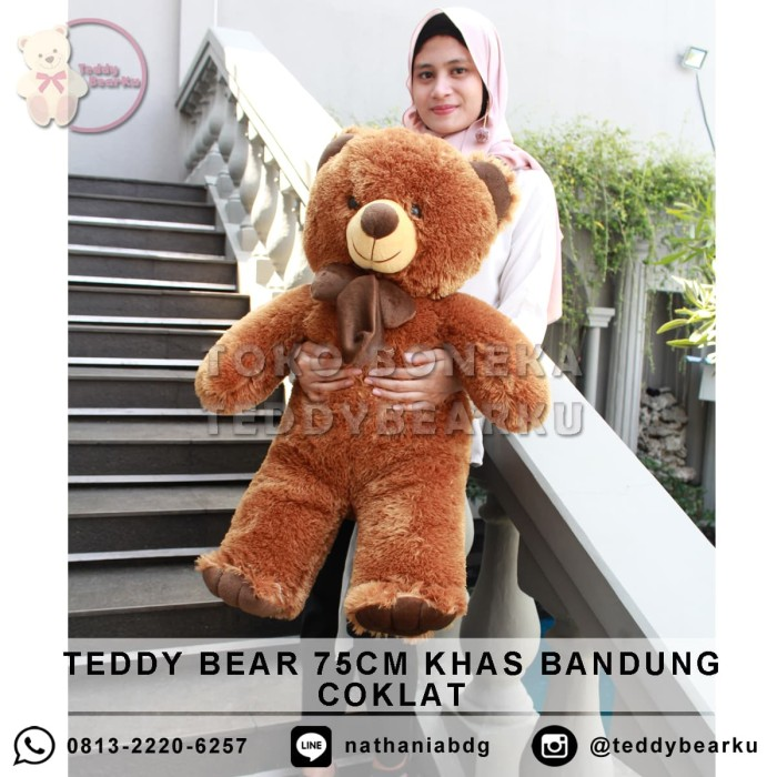 harga Boneka teddy bear coklat xl 75cm khas bandung Tokopedia.com